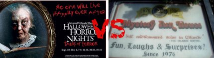 Halloween Horror Nights vs Mystery Fun House