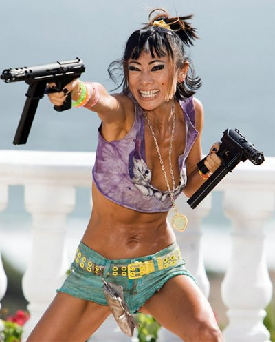 Superfluous image of Bai Ling.